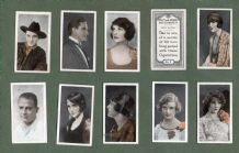 Cigarette cards Film & Stage Favourites 1926, Buster Keaton, Tom Mix,